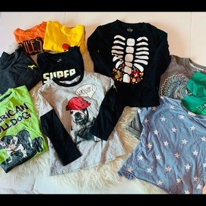 Size 5 kids tops 10 tops  total